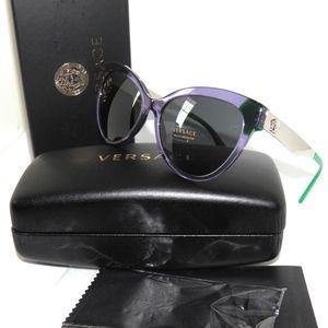 Versace 4338 Transparent Violet green Sunglasses
